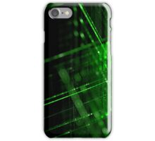 green technology lines background iPhone Case/Skin