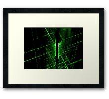 green technology lines background Framed Print