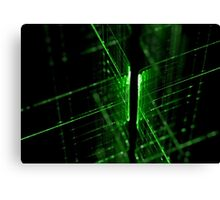 green technology lines background Canvas Print