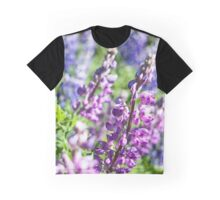 Lupine Flower Graphic T-Shirt