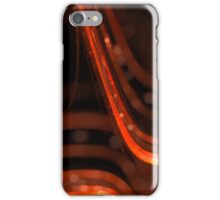 abstract orange glowing lines with bokeh effect iPhone Case/Skin