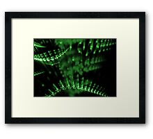 abstract green lights in dark background Framed Print