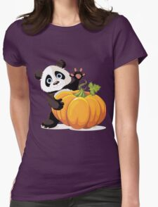 cute panda Womens Fitted T-Shirt