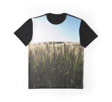 Sunlit Wheat Stalks  Graphic T-Shirt