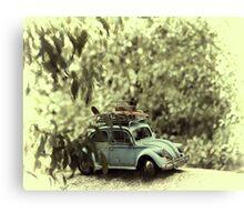 Surfing VW Canvas Print