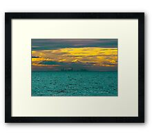 City Floating On An Emeraled Sea. Framed Print