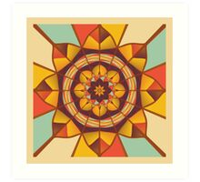 Multicolored geometric flourish Art Print