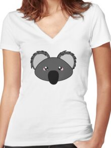 Koala - a cute australian animal Women's Fitted V-Neck T-Shirt