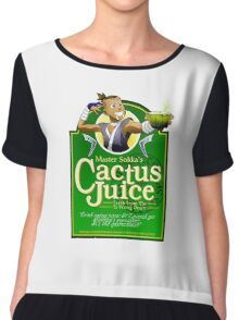 Master Sokka's Cactus Juice Chiffon Top