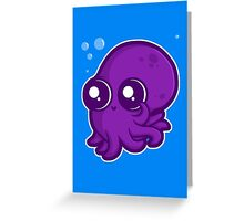 Super Cute Squid Greeting Card