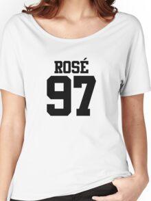 BLACKPINK Rose 97 (Black) Women's Relaxed Fit T-Shirt