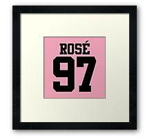 BLACKPINK Rose 97 (Black) Framed Print