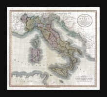 Italy map by John Cary - 1799 One Piece - Long Sleeve