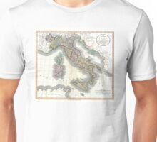 Italy map by John Cary - 1799 Unisex T-Shirt