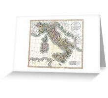 Italy map by John Cary - 1799 Greeting Card