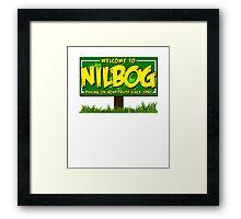 Nilbog Framed Print