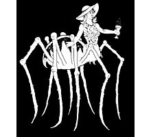 WHT on BLK Collection: Black Widow at a Funeral Photographic Print