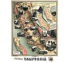 California - United States - 1888 Photographic Print