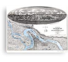 Vicksburg-Fortifications map-Mississippi-1863 Metal Print