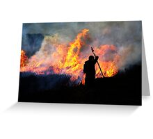 Heather Burning - Yorkshire Dales Greeting Card