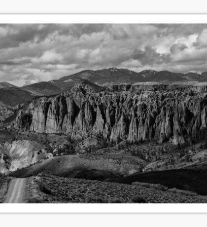 Dillon Pinnacles In Black And White Sticker