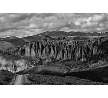 Dillon Pinnacles In Black And White Photographic Print