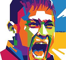 World Cup Edition - Neymar in WPAP by hwart