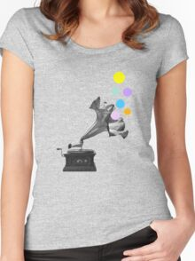 Gramoflower (gramophone) Women's Fitted Scoop T-Shirt