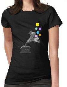 Gramoflower (gramophone) Womens Fitted T-Shirt