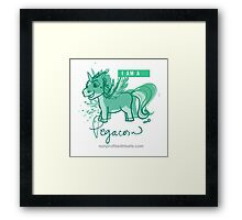 I AM A PEGACORN (square) Framed Print