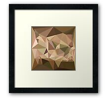 Burlywood Abstract Low Polygon Background Framed Print