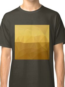 Light Goldenrod Abstract Low Polygon Background Classic T-Shirt