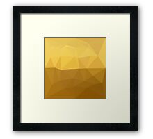 Light Goldenrod Abstract Low Polygon Background Framed Print
