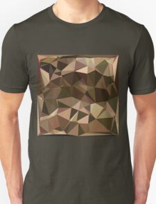 Sienna Abstract Low Polygon Background Unisex T-Shirt