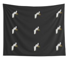 White calla on a black background Wall Tapestry