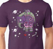 Interstellar Elephant Print Unisex T-Shirt