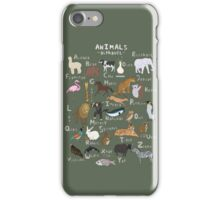 Animals Alphabet iPhone Case/Skin