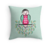 A Berry Tweet Fella Throw Pillow
