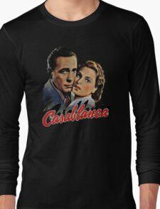 CASABLANCA HUMPHREY BOGARD INGRID BERGMAN retro classic Long Sleeve T-Shirt