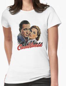 CASABLANCA HUMPHREY BOGARD INGRID BERGMAN retro classic Womens Fitted T-Shirt