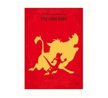 No512 My The Lion minimal movie poster Art Print