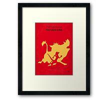 No512 My The Lion minimal movie poster Framed Print