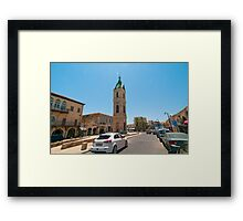 Israel, Jaffa, The Old clock tower in Jaffa, Framed Print