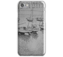 Afternoon ebb tide in Port St Mary harbour iPhone Case/Skin