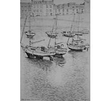 Afternoon ebb tide in Port St Mary harbour Photographic Print