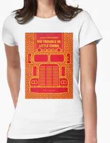 No515 My Big Trouble in Little China minimal movie poster Womens Fitted T-Shirt