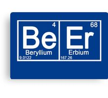 Beer in periodic table Canvas Print