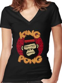 King Pong Rio Women's Fitted V-Neck T-Shirt