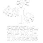 personal space invaders white by jammywho21