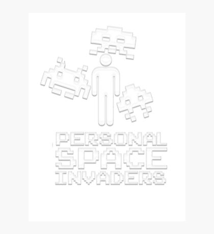 personal space invaders white Photographic Print